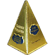 Old, Phonograph Needle Tin - Unusual, Golden Pyramid