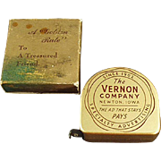 Old, Advertising Tape Measure with Original Box