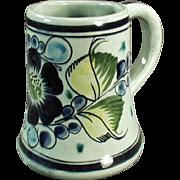Pottery Coffee Mug - Tonala Mexico, Pretty Floral Design