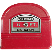 SOLD Old, Stanley Tape Measure - No. 646W - 6 Foot