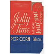 Old, Jolly Time Popcorn, Never Used Popcorn Box