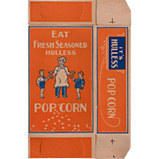 Old Popcorn Box with Children and Popcorn Vendor Graphics