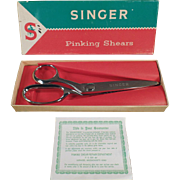 Old, Singer Pinking Shears with Original Box - Left Handed