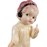 Old, Celluloid Doll - Sweet Little Girl with Cute Pose