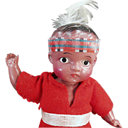 Old, Indian Brave, Celluloid Doll