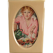 Old, Celluloid Photograph Frame - Nice Dresser Accessory