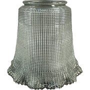 """Old, Light Fixture Shade - Heavily Ribbed - 3 ¼"""" Neck - Vintage"""