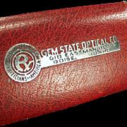 Old Eyeglass Case -Gem State Optical - Boise, Idaho Advertising