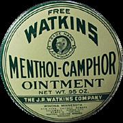 Old Sample Tin - Watkins Menthol-Camphor Ointment