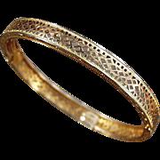 Old, Gold Filled, Filigree Bracelet - Small Size