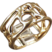 Hand Crafted Ring - 14k Gold, Open Design Band