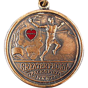 SALE Old, Track Meet Sports Medal - Peoria