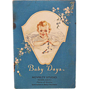 SOLD Old Booklet - Baby Days - Beautifully Illustrated