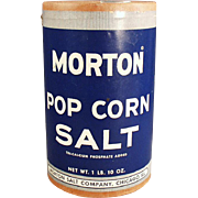 "Old, Morton ""Pop Corn Salt"" Box"