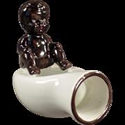 Old, Black Memorabilia, Black Baby on Bed Pan - O.J.