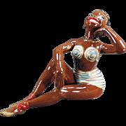 Old, Porcelain Bathing Beauty - Black Memorabilia