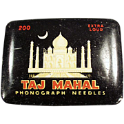 Old, Taj Mahal, Phonograph Needle Tin