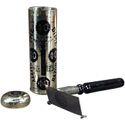 """Old """"Dime Safety Razor"""" with Original Tin - Nice Graphics"""