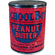 Old, Peanut Butter Tin - School Boy - Seattle / Tacoma