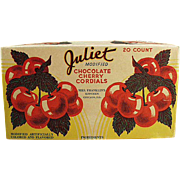 """Old Candy Box - """"Juliet"""" Cherry Cordials by Mrs. Franklin's Kitchen of Chicago"""