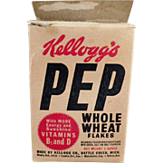 SOLD Old, Kellogg's Pep Cereal Box - Kel-Bowl-Pac Packaging