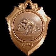 Old Sports Medal - Nice Wrestling Image