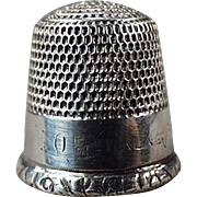 Old, Sterling Silver, Sewing Thimble - Goldsmith Stern
