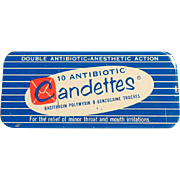 Old, Candettes Antibotic Troches Tin