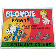 Old, Blondie & Dagwood, Water Color Paint Set Box