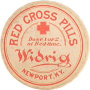 Old Widrig, Red Cross Pills Advertising Box
