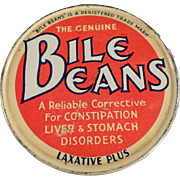 Old Medicine Tin - Biles Beans Laxative Twists