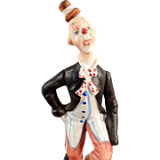 Old, Porcelain Clown Figurine