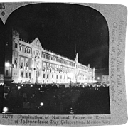 Old Stereoscopic Card - National Palace, Mexico City #85
