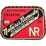Old, Nature's Remedy Laxative Tin - 25c Size