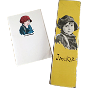 Old, Jackie Coogan Pencil Box and Note Paper