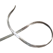 24 Inch, Sterling Silver, Herringbone Neck Chain - Very Flashy
