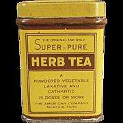Old, Laxative Tin - American Company, Herb Tea
