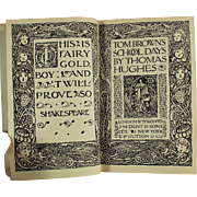 Old Book- Novel by Thomas Hughes - Tom Brown's School Days
