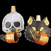 Old, Halloween Whistles - Black Cat & Skull Noise Makers