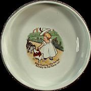 Old, Nursery Rhyme Baby Plate - Baby Bunting - Homer Laughlin