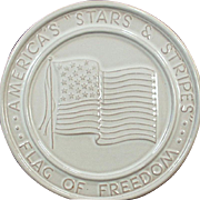 Old Frankoma Trivet - Stars & Stripes American Flag