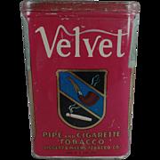 Old, Velvet - Pipe & Cigarette Tobacco Tin