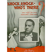 Vintage Sheet Music- Knock, Knock Who's There?