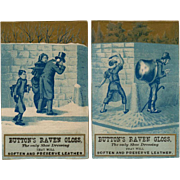 Vintage Trade Cards - Button's Raven Gloss - Mischievous Boys