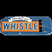 Vintage Tin Whistle - Whistle Soda Advertising