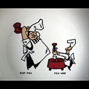 Old, Andersen Restaurant, Split Pea Soup Bowl with Pea-Wee & Hap-Pea