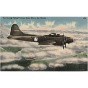 Vintage Postcard with the Boeing Flying Fortress
