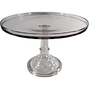 Vintage, Pedestal Based, Glass Cake Stand - Large Size - 14 inch