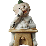 Vintage Match Holder - German Bisque, Comical Character