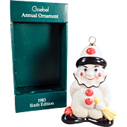 Vintage, Goebel Clown Christmas Ornament with Original Box - 1983